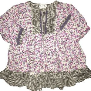 Other - ⭐️ Jillian's Closet Linen Floral Smocked Blouse